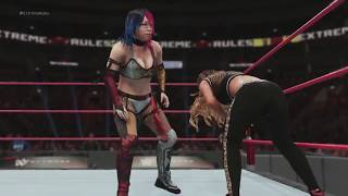 WWE Extreme Rules 2018 Asuka vs Carmella Full Womens Title Match Sim (WWE 2018)
