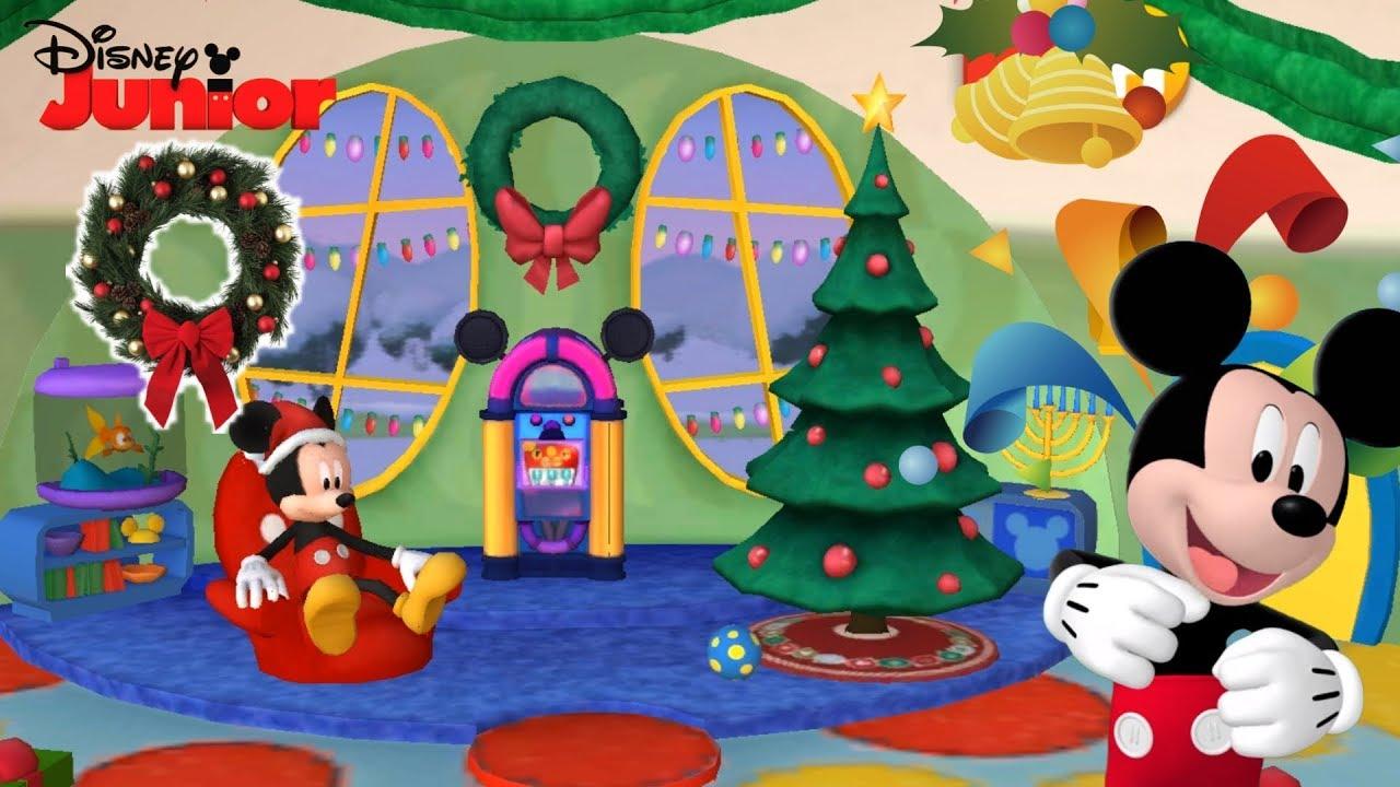 La Casa De Mickey Mouse Decoracion Navidena 3d Especial Mickey Y