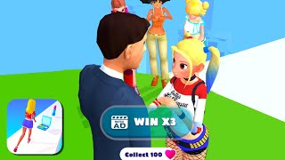 MAKEOVER RUN All Levels Road (iOs, Android) Gameplay | Level 35-43