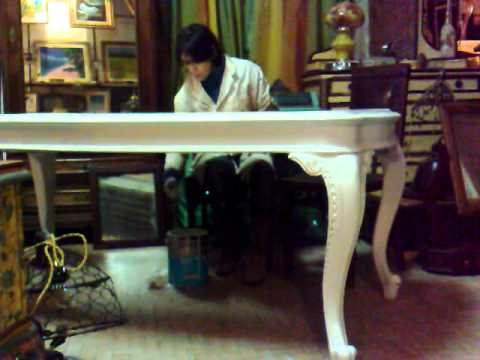Sedie Stile Chippendale : Tavolo dipinto stile provenzale youtube