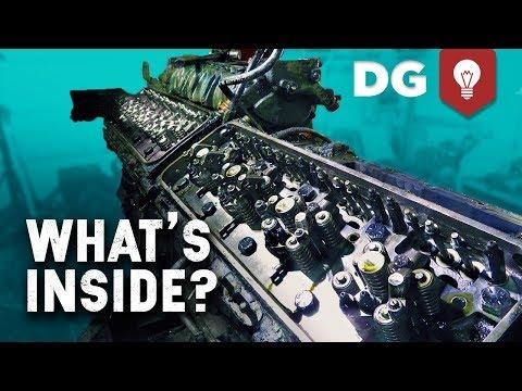 Whats Inside a 16cyl 2 Stroke Detroit Diesel? #HowItWorks