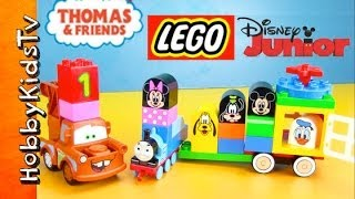 Mickey Mouse Train! Thomas The Train Joins With Disney Car Mater Duplo Play-doh Lego By Hobbykidstv