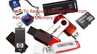 How To Recover Deleted Files From Pen Drive/Memory Card (Bangla Tutorial)