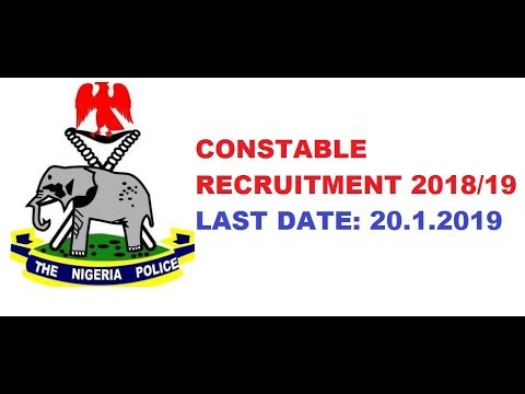 Nigeria Police Force Recruitment 2018 Constable, Portal Login policerecruitment.ng