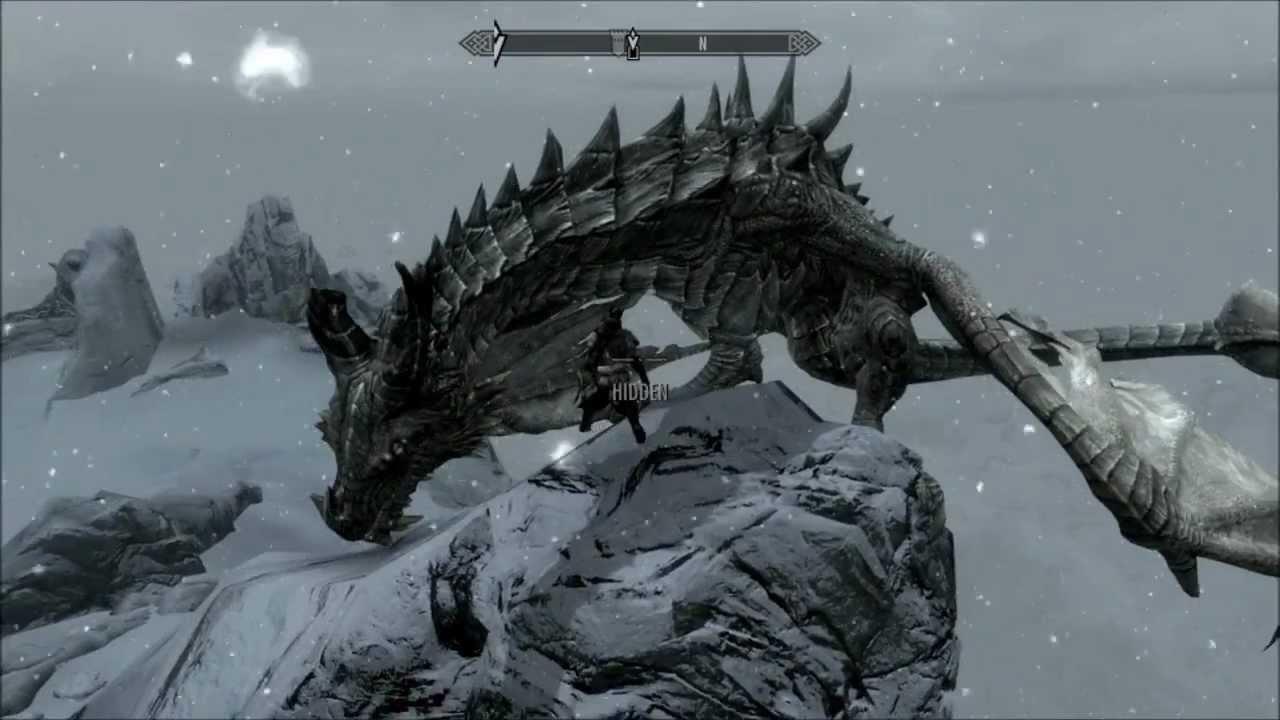 Skyrim Dragon: SKYRIM: RIDING A DRAGON!