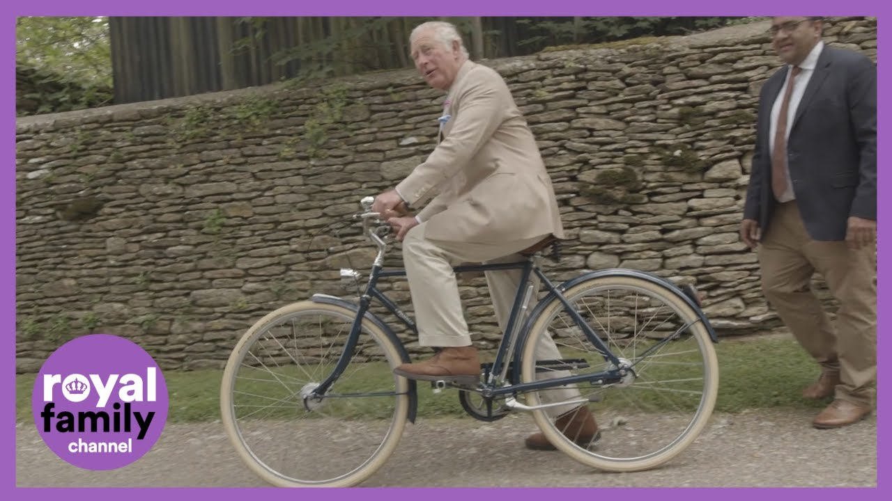 Prince Charles Gets On His Bike to Kick Off This Year's 'Palaces on Wheels' Challenge