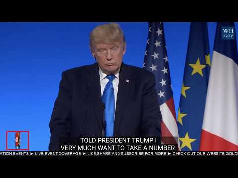 WATCH: President Donald Trump holds Joint Press Conference with Emmanuel Macron Of France