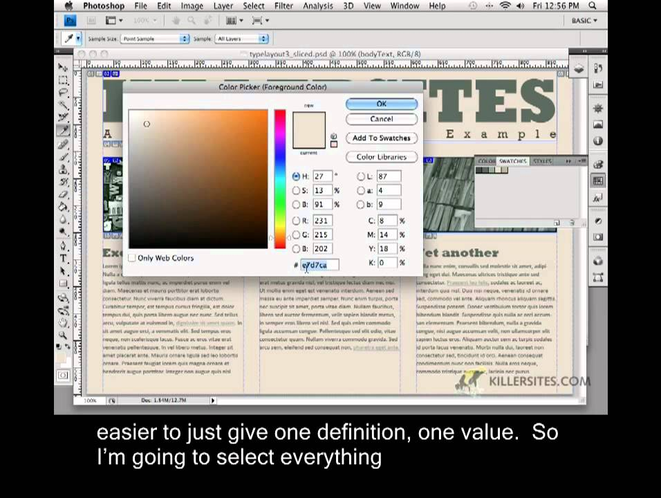Photoshop for the Web Closed Captioned – Body Tag