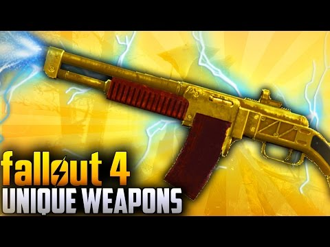 Fallout 4 Rare Weapons - TOP 10 Far Harbor DLC Unique & Secret weapons
