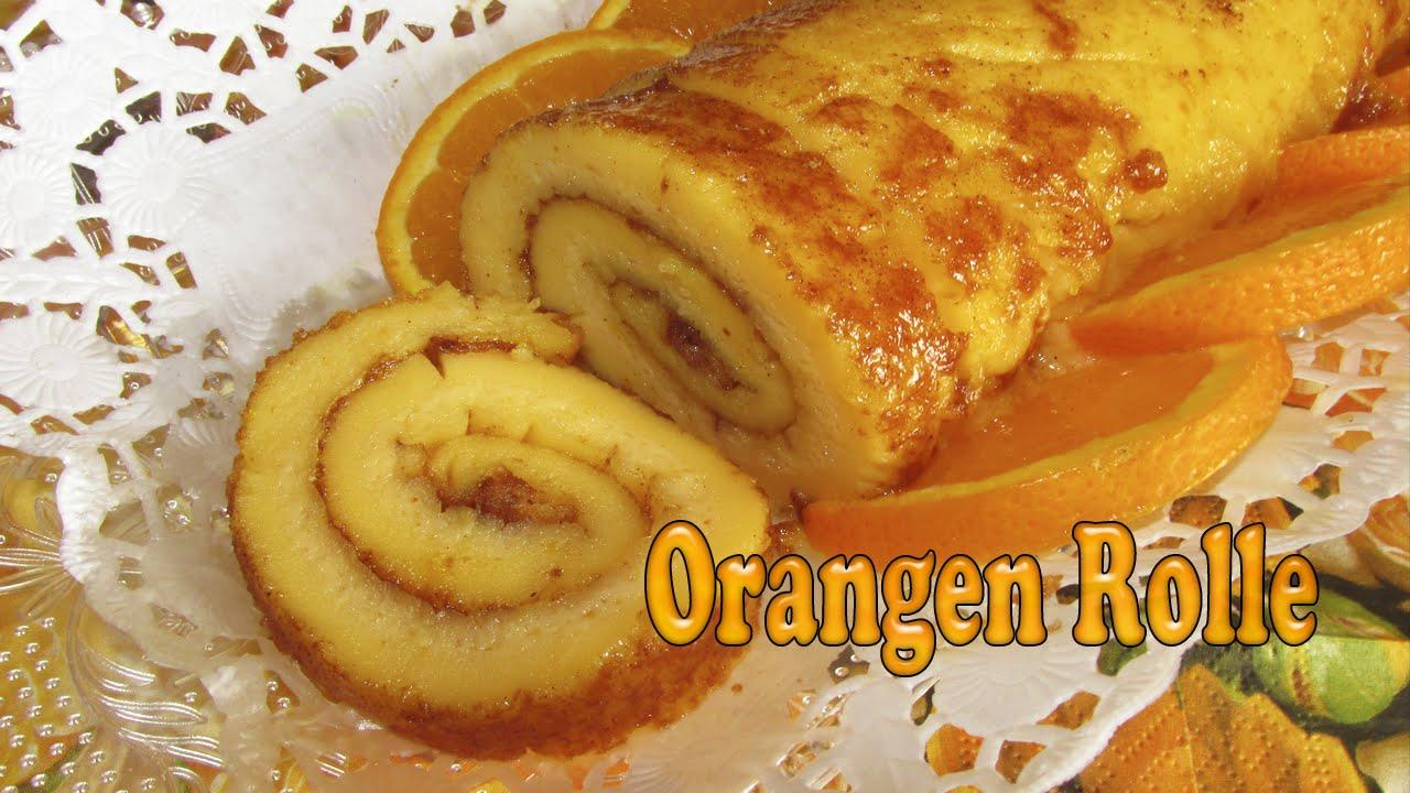 Portugiesischer Orangenkuchen Orangen Rolle Youtube