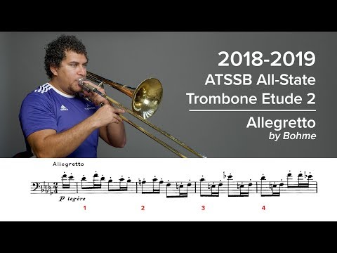 2018-2019 ATSSB All-State Trombone Etude 2 - Voxman Pg. 25, Allegretto