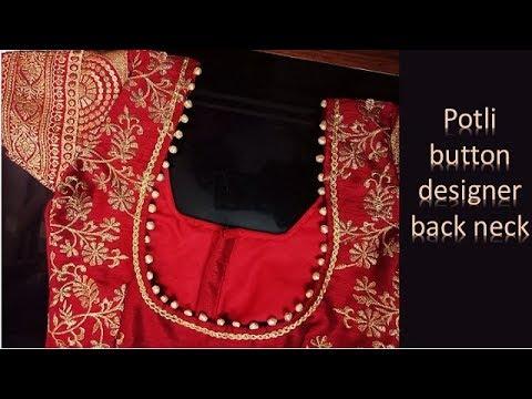 Potli Button Designer  Blouse Back Neck Pattern 2019  04