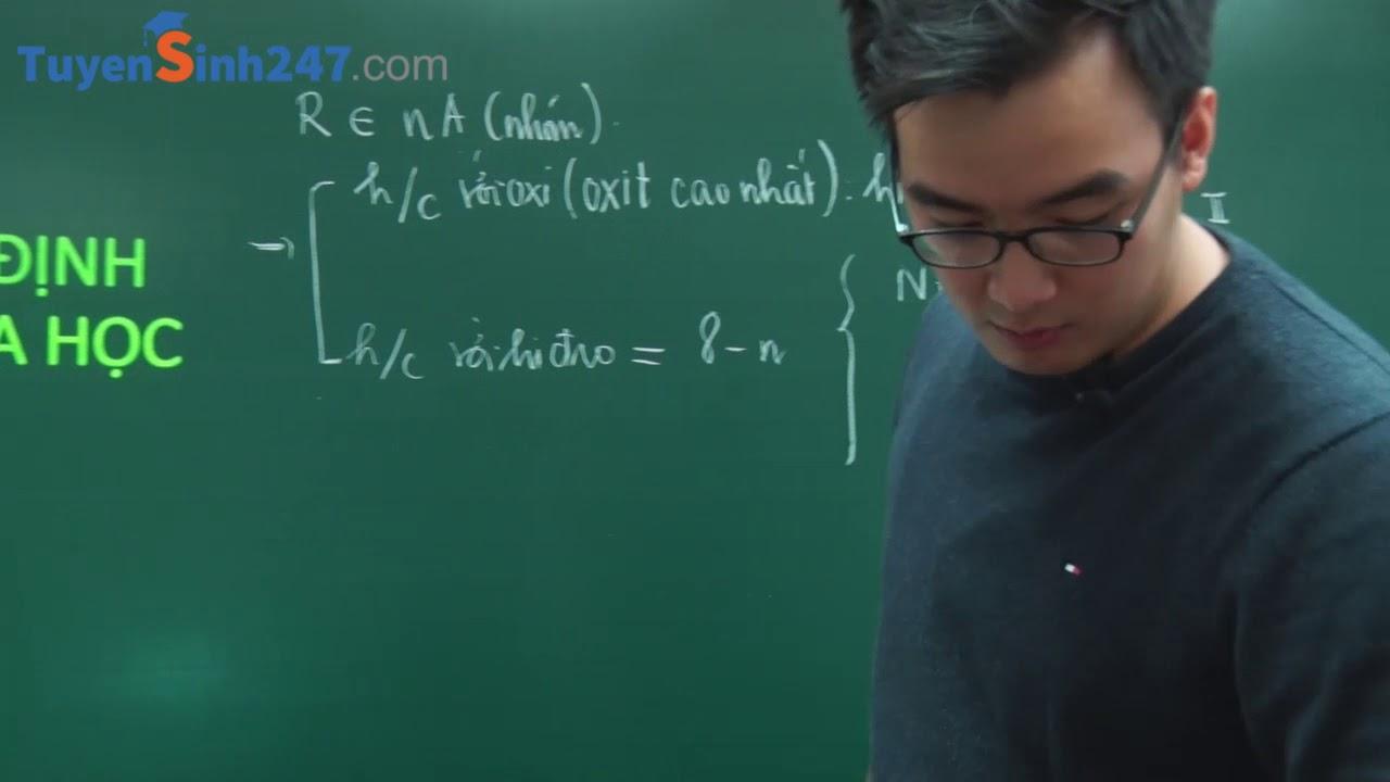 Bài toán xác định nguyên tố hóa học – Hóa học 10 – Thầy giáo: Phạm Thanh Tùng
