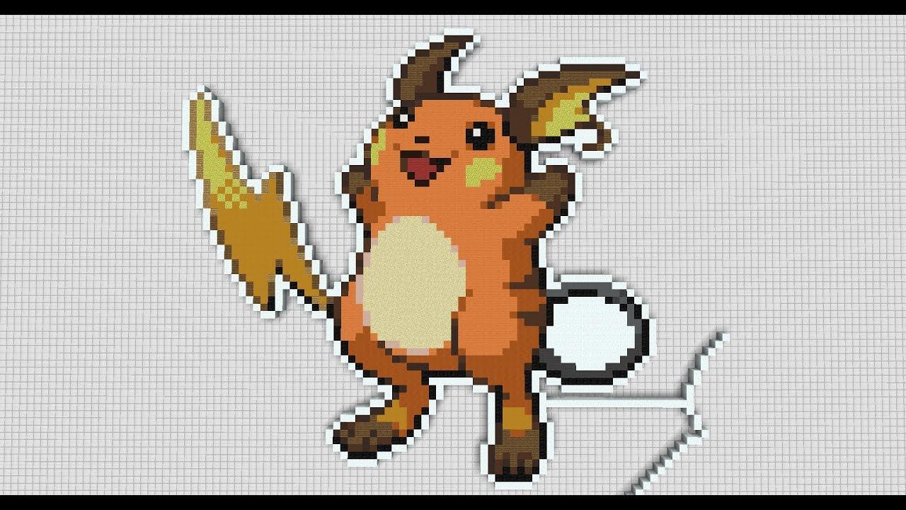 4 Minecraft Pixel Art Pokemon Raichu
