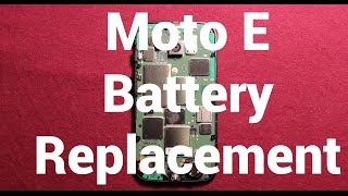 motorola moto e battery replacement how to change