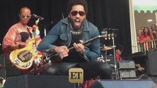 NSFW: Lenny Kravitz's Penis Exposed After Splitting Pants On Stage