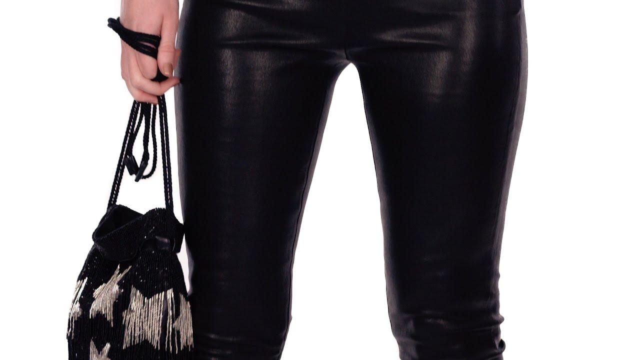 OOTD Black Leather Pants - YouTube