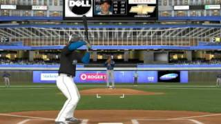 MLB 2K9 PC Gameplay CLE Indians @ TOR Blue Jays 1st Bottom