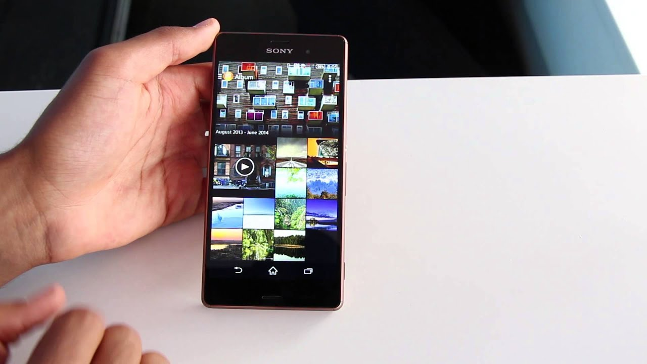 how to open sony xperia z3