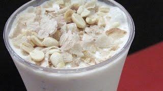 Aval Milk Recipe - How To Make Milk Aval/Avil Milk - Aval Milkshake - Kerala Recipes | Nisa Homey