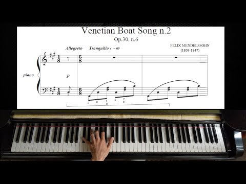 Mendelssohn - Venetian Boat Song Op. 30 No. 6 | Piano Tutorial