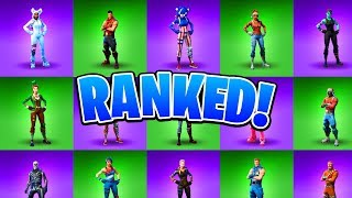 Ranking ALL Holiday Fortnite Skins! Fortnite All Christmas, Halloween, Easter Skins Ranked!