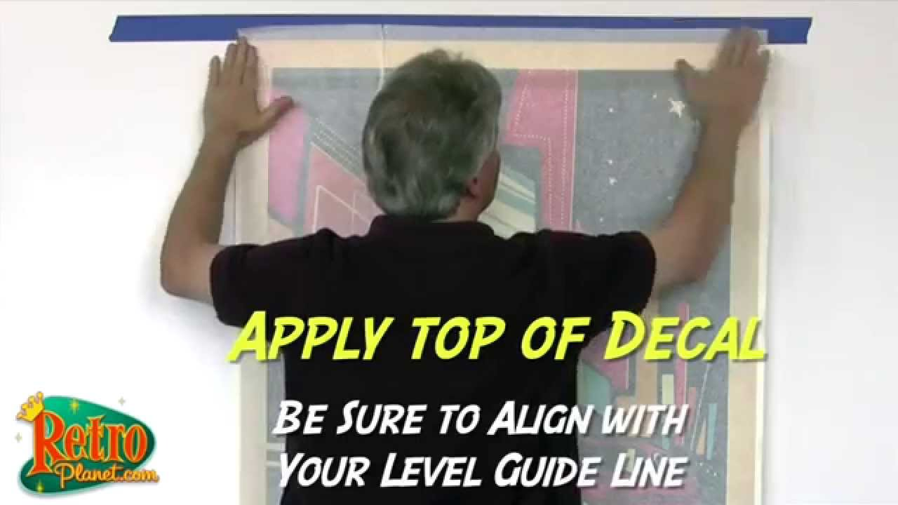 How to Apply Large Wall Decals  sc 1 st  YouTube & How to Apply Large Wall Decals - YouTube