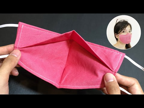 New design - NO FOG ON GLASSES - Very quick & easy 3D face mask sewing tutorial