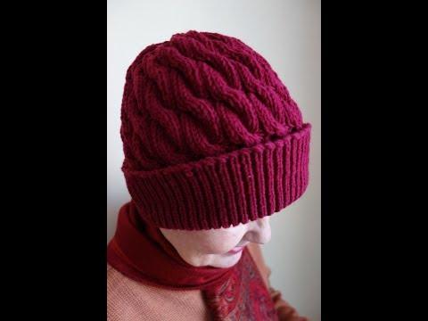 Связать шапку на зиму спицами