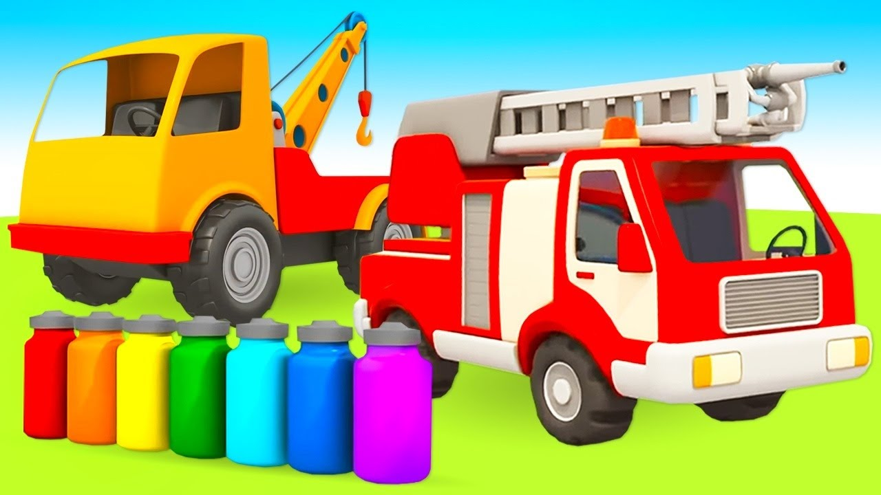 Car cartoons in English - Leo the truck and Street vehicles