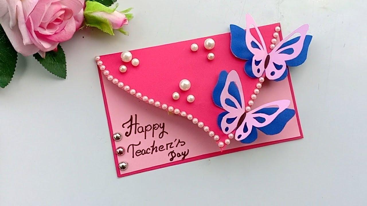 Diy Teacher S Day Card Handmade Teachers Making Idea