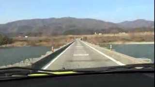 吉野川に架かる橋 舞中島潜水橋.m2ts