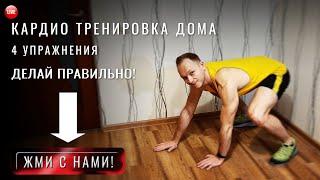 Кардио тренировка дома Эффектиные упражнения для карио нагрузки в домашних условиях