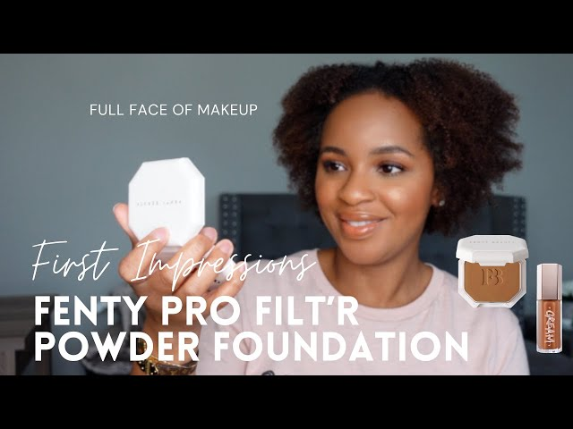 Fenty Beauty Powder Foundation First Impression & Demo | Full Face