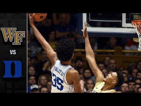 Wake Forest vs. Duke Basketball Highlights (2017-18)