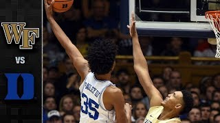 Wake Forest vs. Duke Basketball Highlights (2017-18)