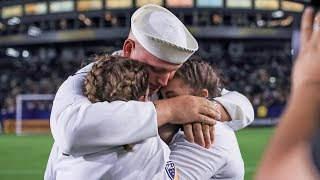 Surprise Fourth of July military family welcome home at LA Galaxy game
