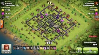Clash of Clans: One EARTHQUAKE spell destroys TH9 - Epic win