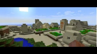SEMILLA PARA MINECRAFT 1.6.2  pueblo desertico con templo :D 