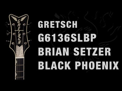 Gretsch G6136SLBP Brian Setzer Black Phoenix Overview