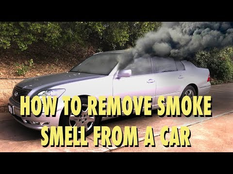 how to remove smoke smell and other odors from a car youtube. Black Bedroom Furniture Sets. Home Design Ideas
