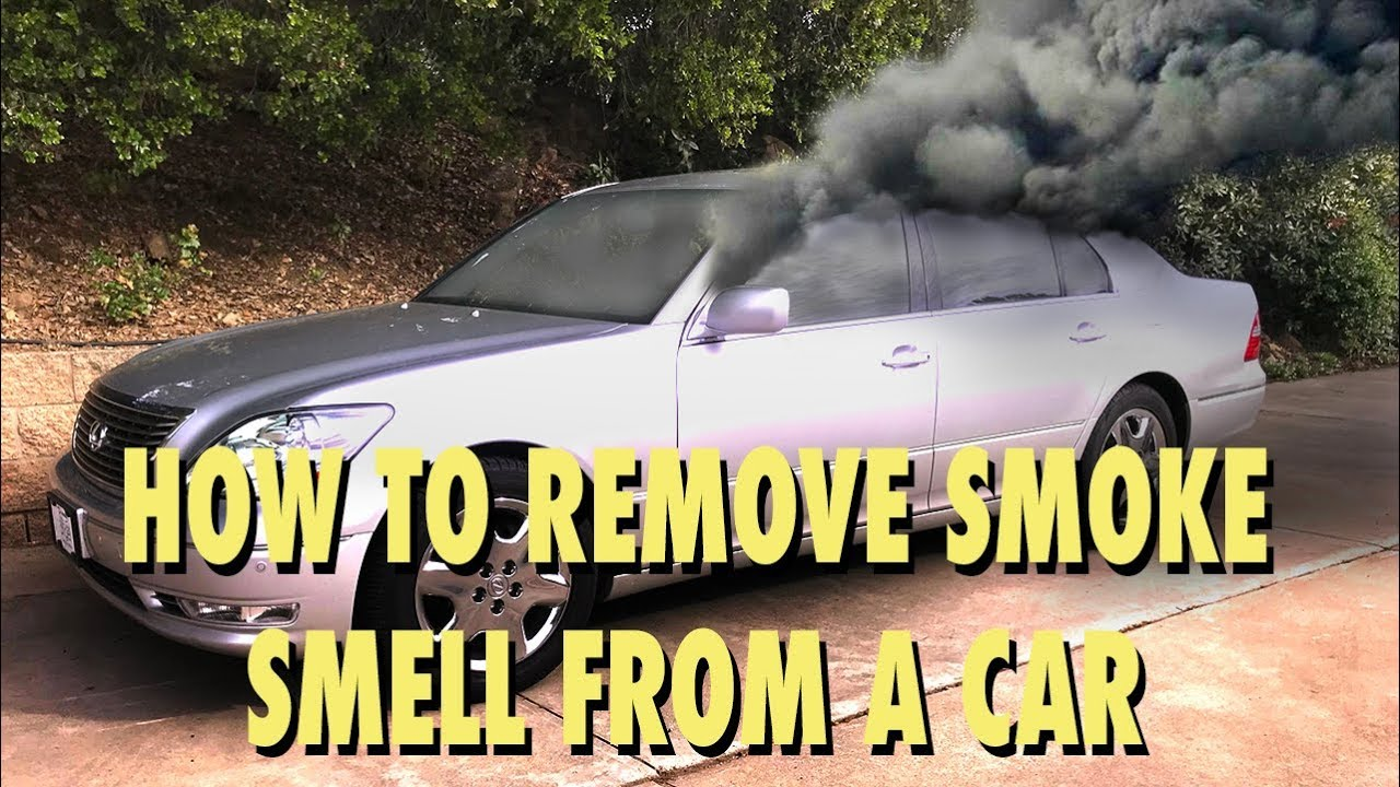 How To Remove Smoke Smell And Other Odors From A Car Youtube