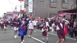 2014年4月20日、岩手県奥州市で行なわれた前沢春まつり。 三日町組の出...