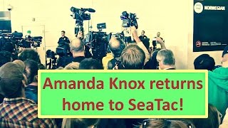 Amanda Knox speech after returning to Seattle