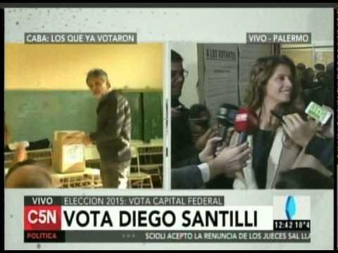 C5N - ELECCION 2015: VOTA SANTILLI EN LA CIUDAD