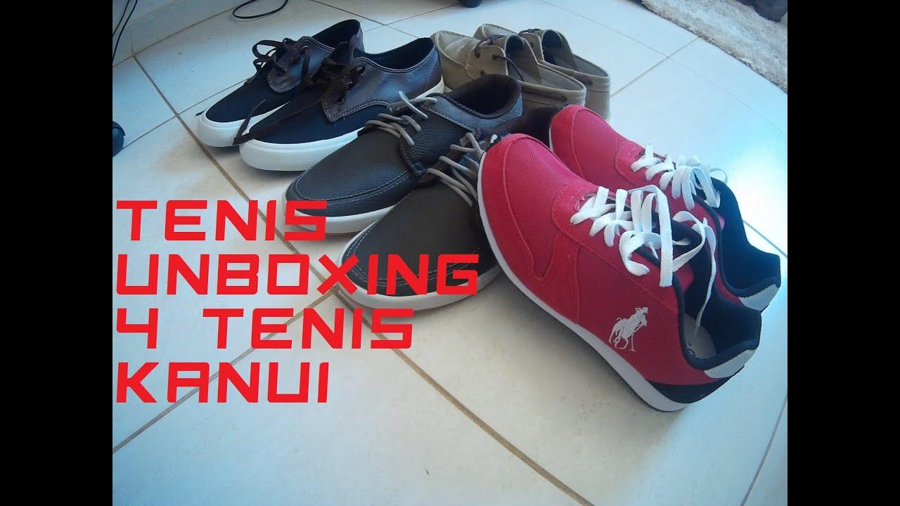 b535712366cd7 unboxing 4 tenis kanui promoção - YouTube