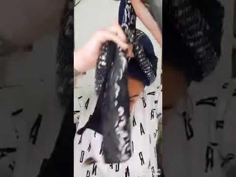 סרטון קשירה לונג משולב , מטפחת משולבת 3 צבעים