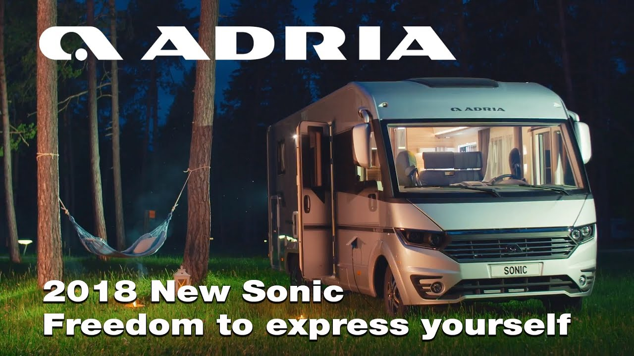 2018 new adria sonic freedom to express yourself lifestyle video [ 1280 x 720 Pixel ]