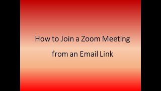 How to Join a Z๐om Meeting with a Link sent by Email