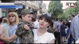Американские танки вошли в Тбилиси в День Независимости